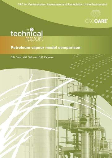 CRC CARE Technical Report 09: Petroleum vapour model comparison