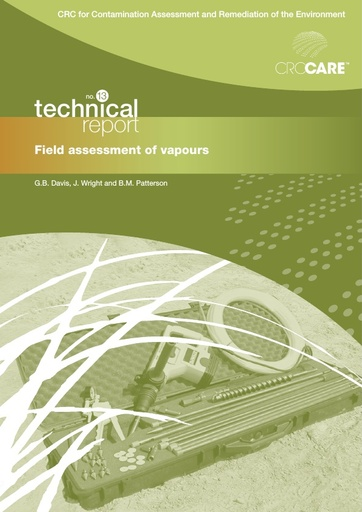 CRC CARE Technical Report 13: Field assessment of vapours