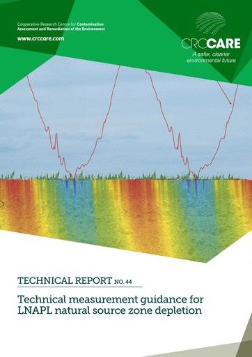 CRC CARE Technical Report 44: Technical measurement guidance for LNAPL natural source zone depletion