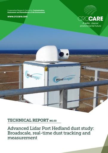 CRC CARE Technical Report 33: Advanced Lidar Port Hedland dust study