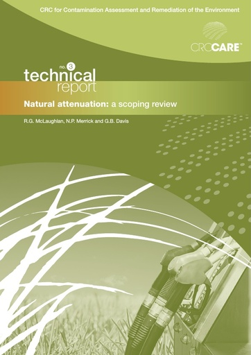 CRC CARE Technical Report 03: Natural attenuation - a scoping review